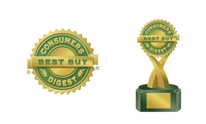 Consumers Digest - Updated Best Buy logo and award statue