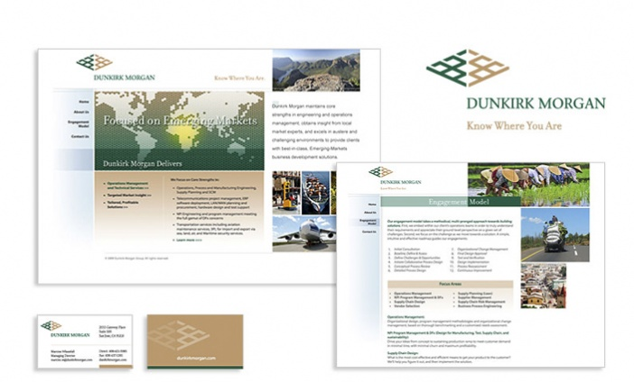 Dunkirk Morgan - Brand Identity, Website and Collateral