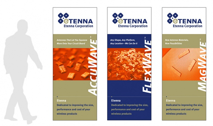 eTenna - Roll-Up Banner Display
