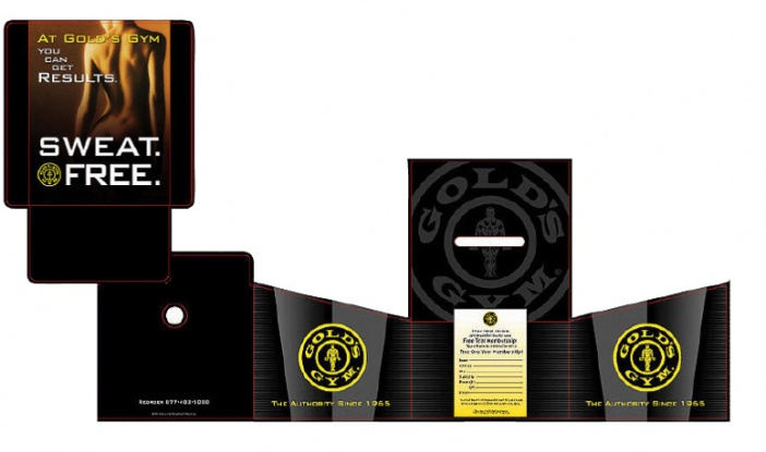 Gold's Gym - Countertop Promotional Point-of-Purchase Display