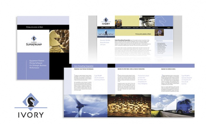 Ivory Software - Brand Identity, Website and Print Collateral