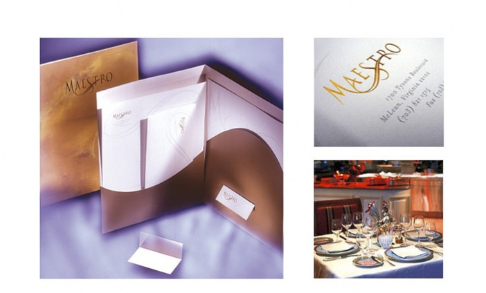 Ritz Carlton - Maestro Restaurant Logo and Print Collateral