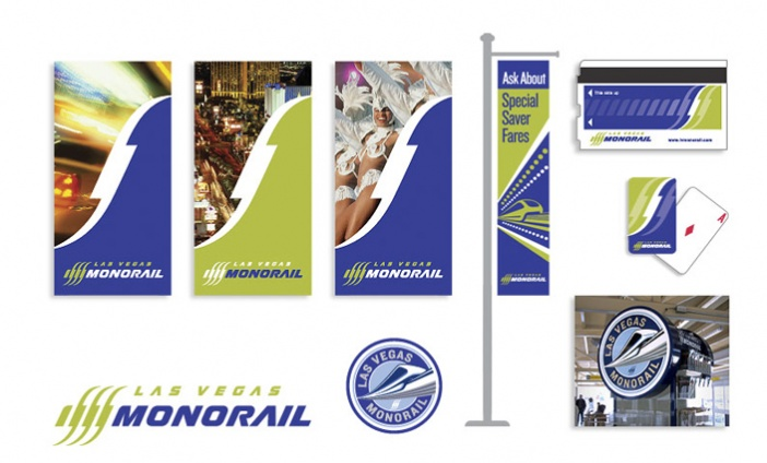 Las Vegas Monorail - Logo and Brand Extension