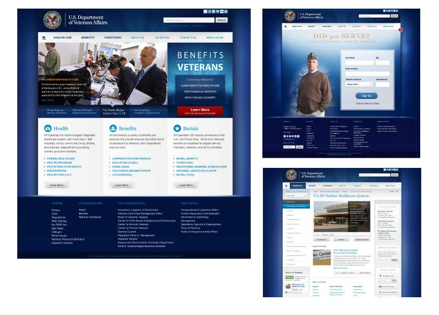 US Department of Veterans Affairs Website Design