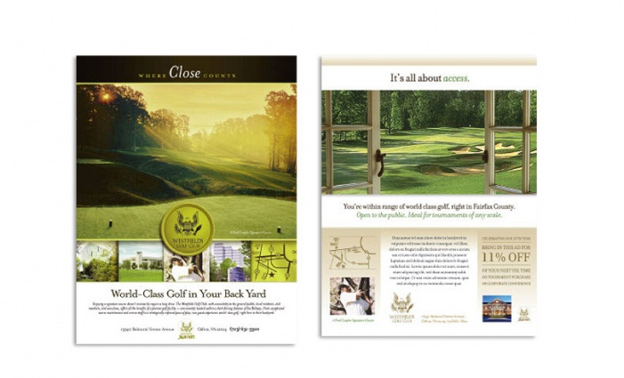 Westfields Marriott - Westfields Golf Club Advertising